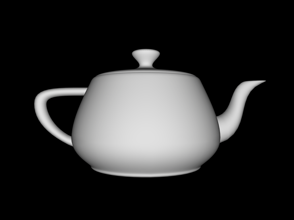 A rendered computer model of the Utah teapot