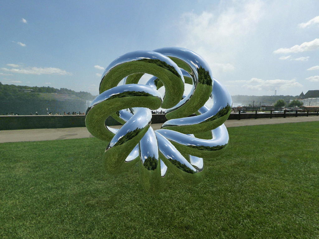 The environment map reflected off a torus knot