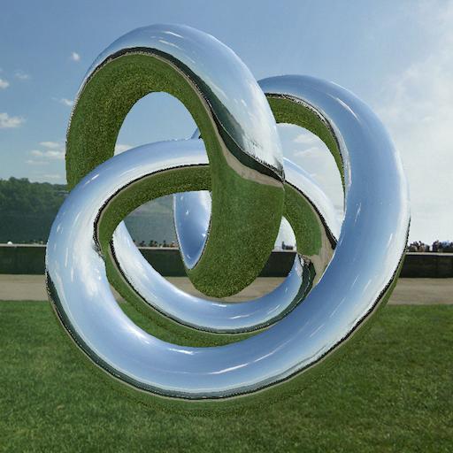 A reflective trefoil knot
